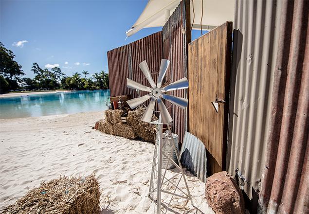 Australiana theme on the lagoon at Intercontinental