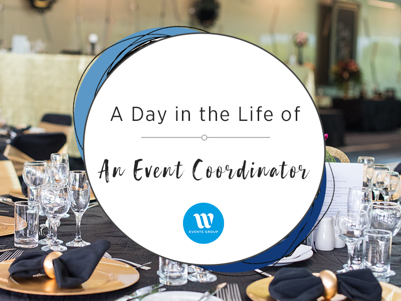 event image behind text A Day in the Life of an Event Coordinator