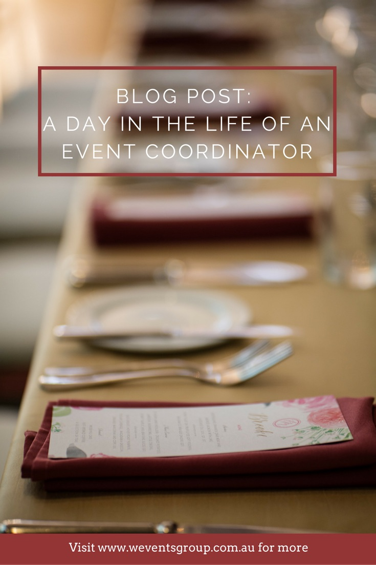 Weddings don't just happen. Coordination is key! So the teams at W Events and RACV Royal Pines present to you; a day in the life of an event coordinator!