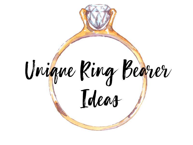 The ring bearer is just one of the many traditions of a wedding ceremony. It may be that you have a small family or you just want something with a little more pizzazz. So, we've created a list of unique ways to get your rings to the altar!