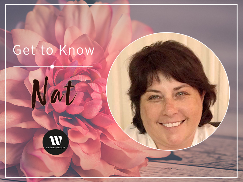 Head shot of Nat, W Events in-house florist Get to Know Nat