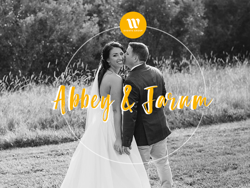 Real Wedding Abbey and Jarum black and white image