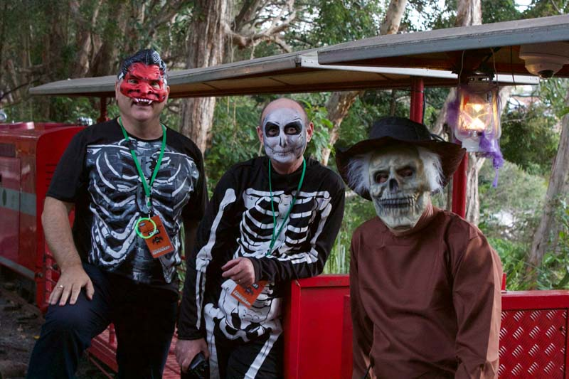 Currumbin Wildlife Sanctuary's, ' FestEvil at the Fangtuary' was a real scream, with a night time ghost train and spooktacular fun in the park.