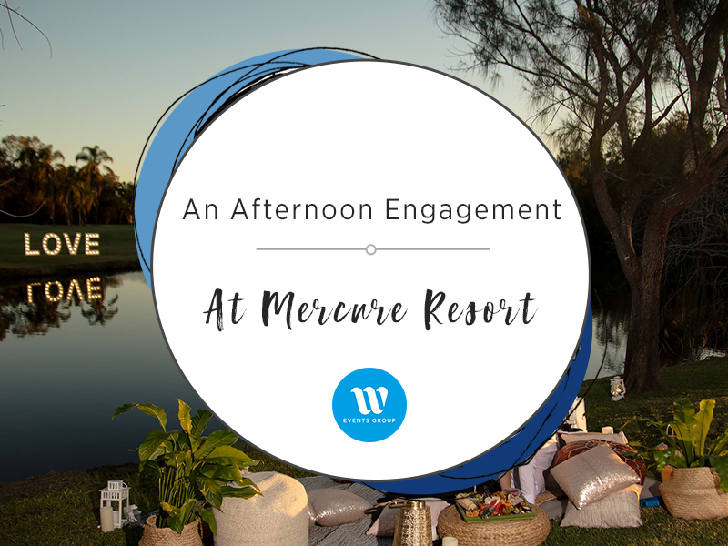 Mercure resort golf course with picnic and text an afternoon engagement at Mercure resort