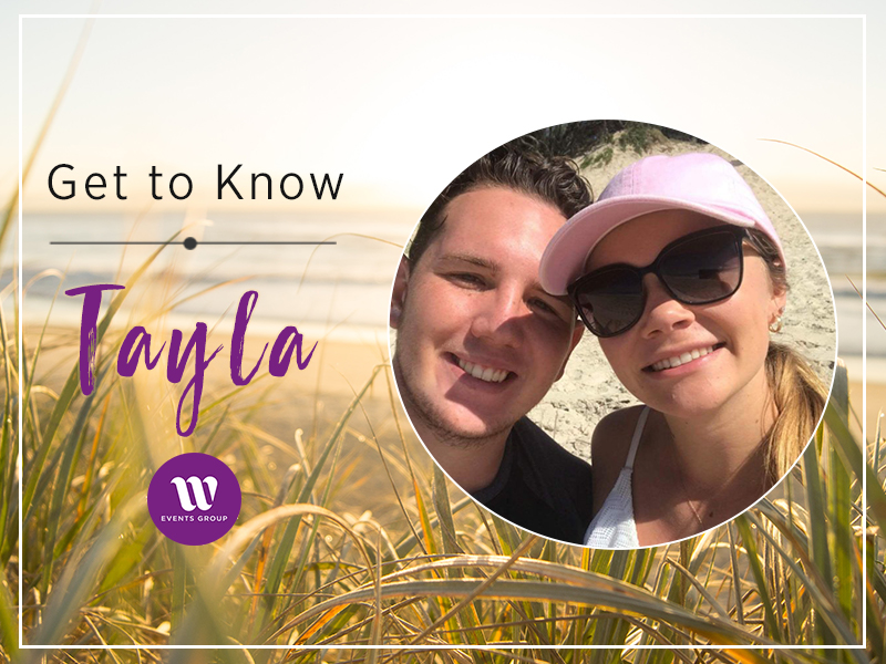 head shot of a couple at the beach Get to Know Tayla