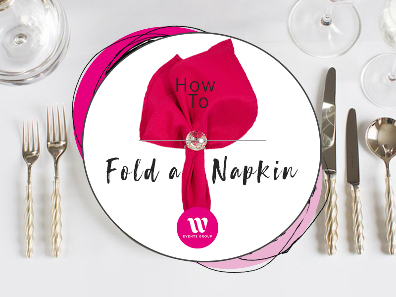 A napkin fold is an important element to table styling. From the classic book fold, to a casual knot or a traditional pocket, here's a how to fold guide.
