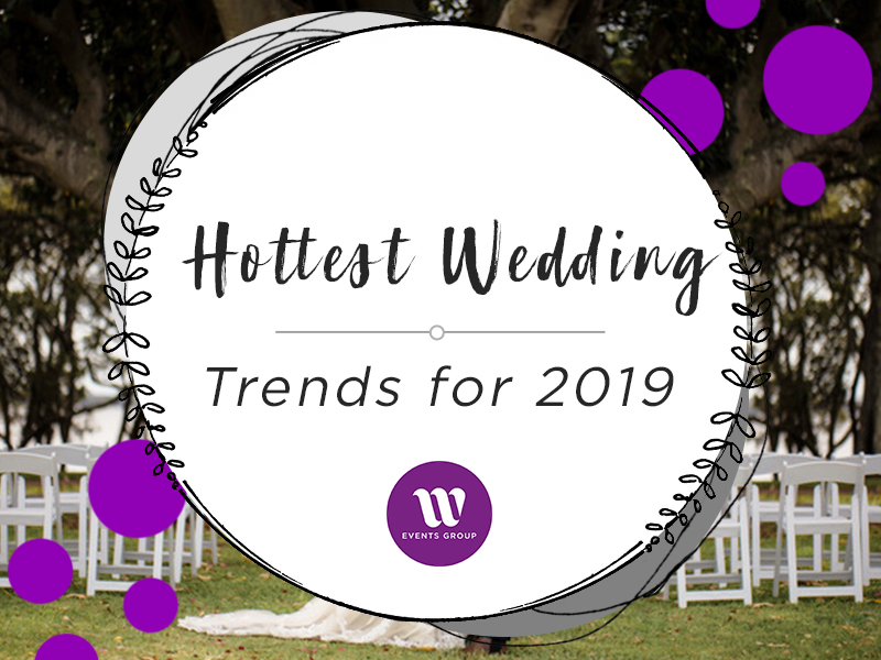 Discover the hottest wedding trends for 2019, from dressing for comfort to candid photography and buttercream cake creations. We have all the hottest trends.