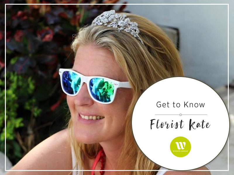 Kate is one of our senior florists at Flowers by W Events Group. She's a bubble of energy and loves nothing more than being surrounded by her garden.
